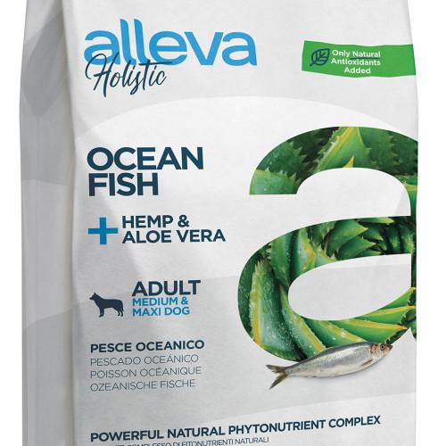 """Холистична храна за кучета Alleva® Holistic """"Океанска риба + коноп & алое вера"""" Adult Medium & Maxi - 12.00kg"""