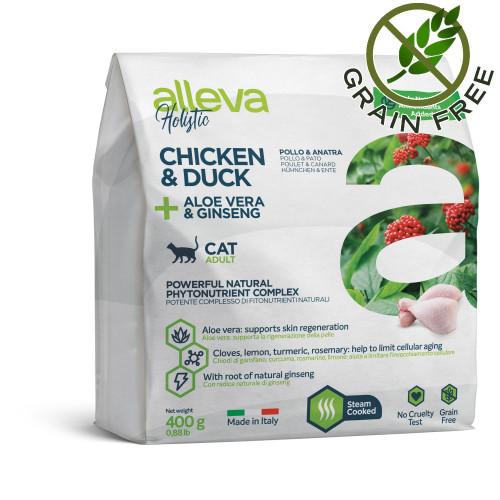 "Alleva® Holistic ""Chicken & Duck + Aloe Vera & Ginseng"" Cat - 0.400kg"