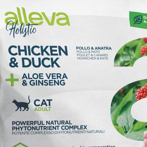 "Холистична храна за котки с женшен и алое вера Alleva® Holistic ""Chicken & Duck + Aloe Vera & Ginseng"" Cat - 0.400kg"