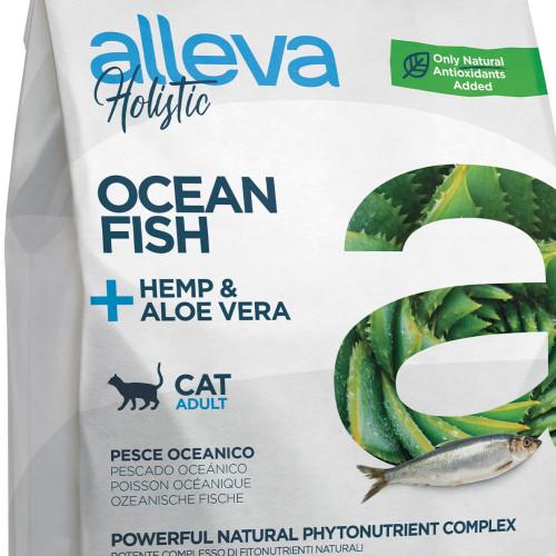 """Холистична храна за котки с океанска риба и коноп Alleva® Holistic """"Ocean Fish + Aloe Vera & Hemp"""" Cat - 1.5kg"""
