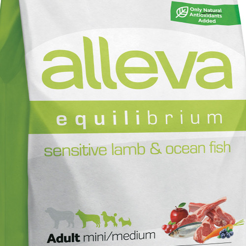 "Храна за кучета без глутен Alleva® Equilibrium Sensitive ""Lamb & Ocean Fish"" Adult Mini & Medium Dog - 2.00kg"