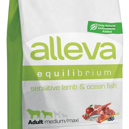"Храна за кучета без глутен Alleva® Equilibrium Sensitive ""Lamb & Ocean Fish"" Adult Medium & Maxi Dog - 12.00kg"