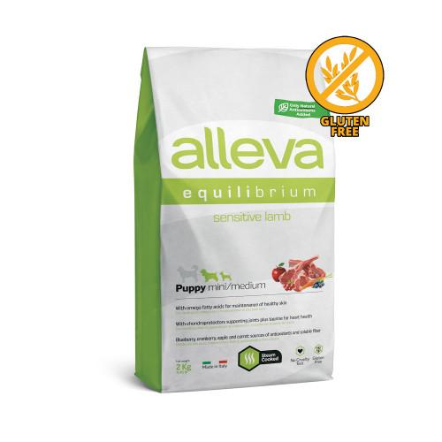 "Храна за кученца от малки и средни породи Alleva® Equilibrium Sensitive ""Lamb"" Puppy Mini & Medium - 2.00kg"