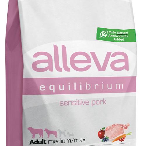"""Храна за чувствителни кучета Alleva® Equilibrium Sensitive """"Pork"""" Adult Dog - 12.00kg"""