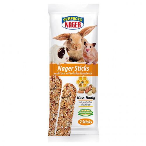 Крекер с мед и фъстъци Perfecto (2 бр.) - подходящ за зайче, хамстер, морско свинче и други гризачи