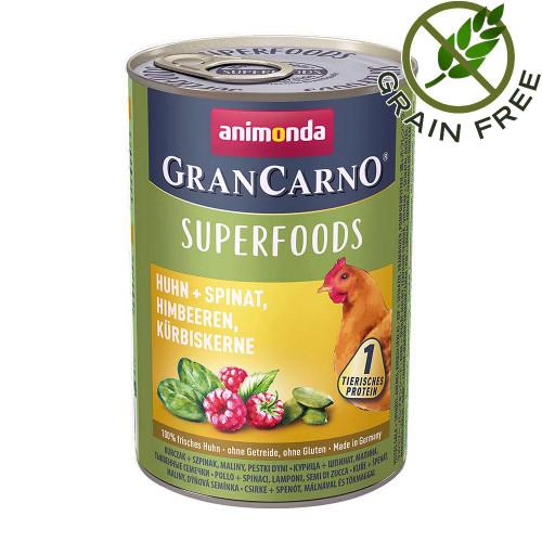 Консерва за кучета с пилешко и сперхрани - Gran Carno Superfoods Chicken 400гр