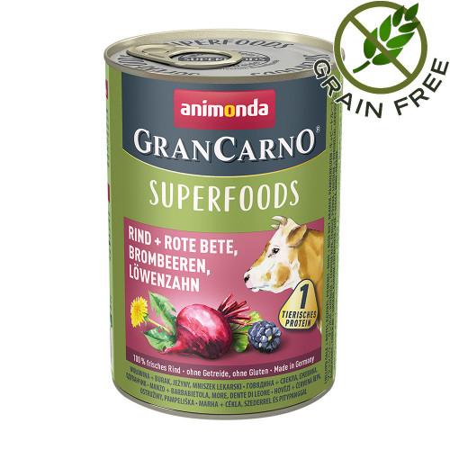 Консерва за кучета с говеждо и суперхрани - Gran Carno Superfoods Beef - 400гр