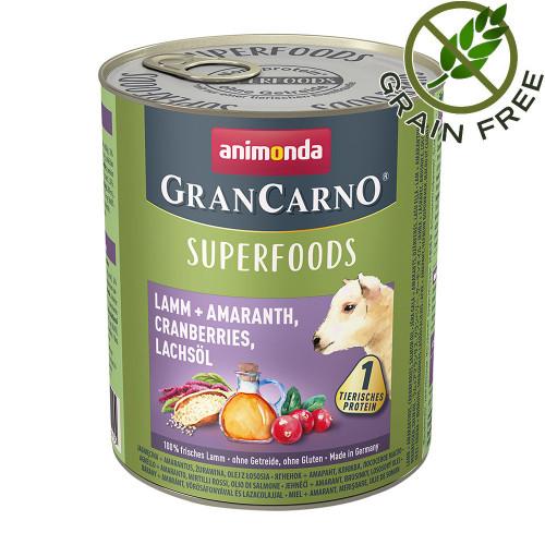 Консерва за кучета с агнешко и суперхрани - GranCarno Superfoods Lamb 800гр