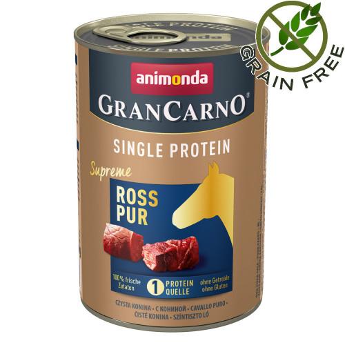 Консерва за кучета монопротеин от конско месо - GranCarno Single Protein Supreme Horse Pure - 400гр