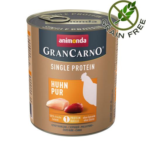 Консерва за кучета монопротеин от пилешко месо - GranCarno Single Protein Chicken Pure - 800гр