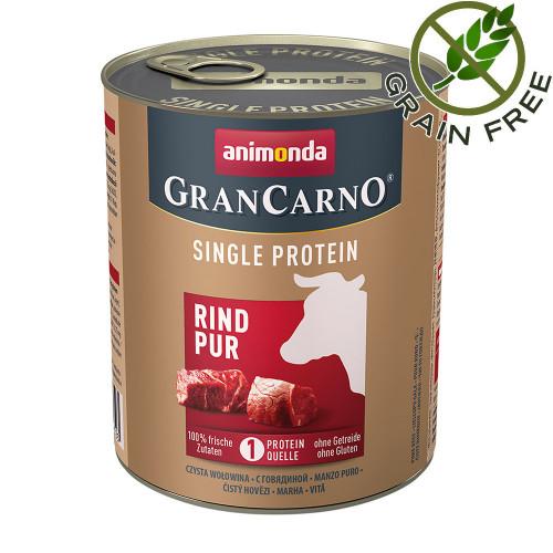 Консерва за кучета монопротеин от говеждо месо - GranCarno Single Protein Beef Pure - 800гр
