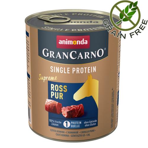 Консерва за кучета монопротеин от конско месо - GranCarno Single Protein Supreme Horse Pure - 800гр