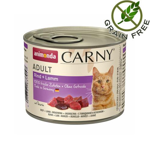 Консерва за котки с говеждо и агнешко - Animonda Carny® Cat Beef & Lamb 6 х 200 гр