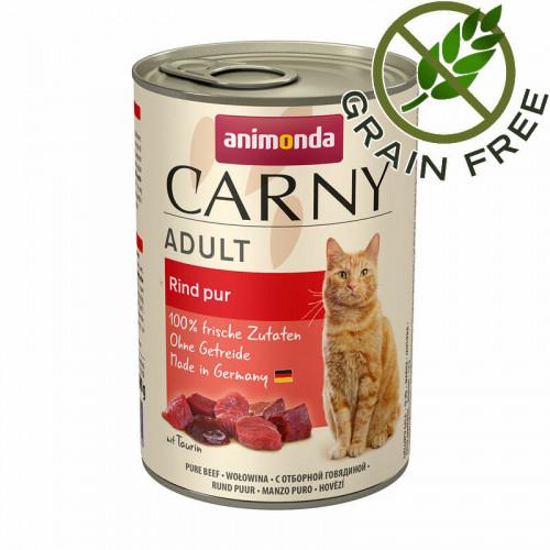 Консерва за котки - монопротеин от говеждо - Animonda Carny® Cat Beef Pure - 400 гр