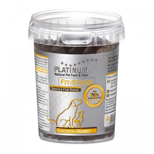 "Лакомство ""Platinum Fit-Sticks Chicken + Rabbit"" – 6 x 0.300 кг"