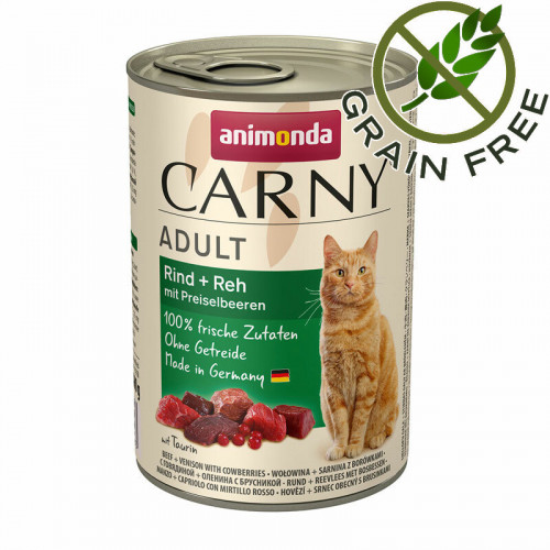 Консерва за котки с говеждо, еленско и боровинки - Animonda Carny® Beef & Venison with Cranberries - 400 гр