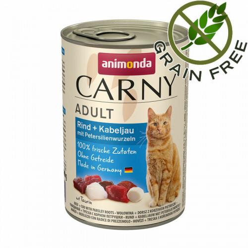 Консерва за котки с говеждо, треска и магданоз - Animonda Carny® Beef & Cod with Parsley - 400 гр
