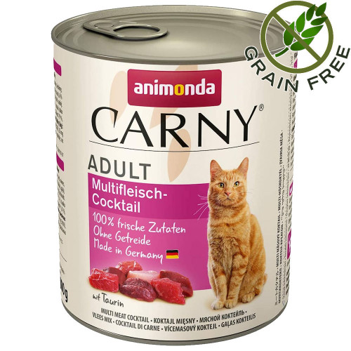 Консерва за котки без зърно Animonda Carny® Cat Multi-Meat Cocktail - 800 гр