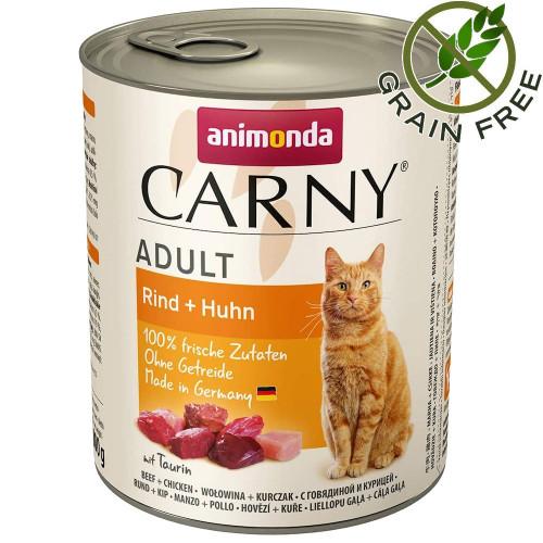 Консерва за котки без зърно Animonda Carny® Cat Beef & Chicken - 800 гр