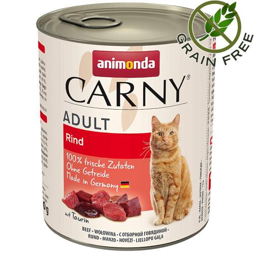 Монопротеинова консерва за котки без зърно Animonda Carny® Cat Beef Pure - 800 гр