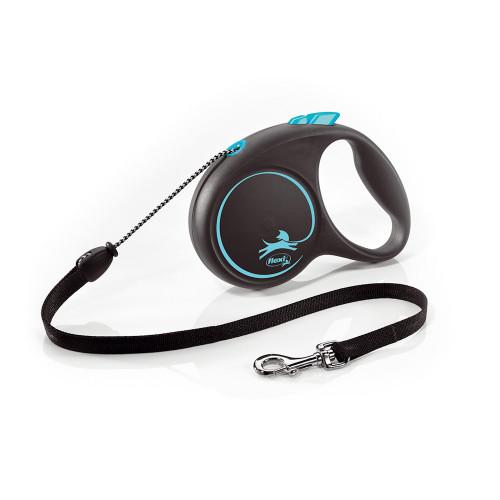 Елегантен и модерен автоматичен повод за кучета Flexi Black Design M с въже 5 м - Blue