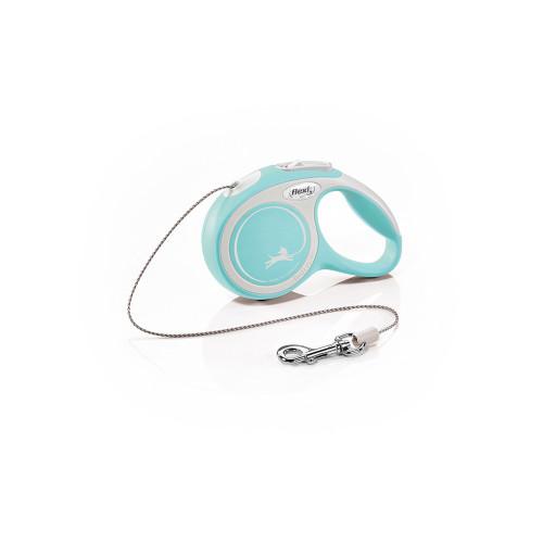 Автоматичен повод за кучета Flexi New Comfort XS с въже 3 м - светло син