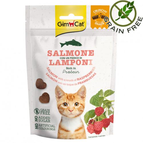 Вкусно лакомство за котки Crunchy Snack Сьомга & Малини - 50гр