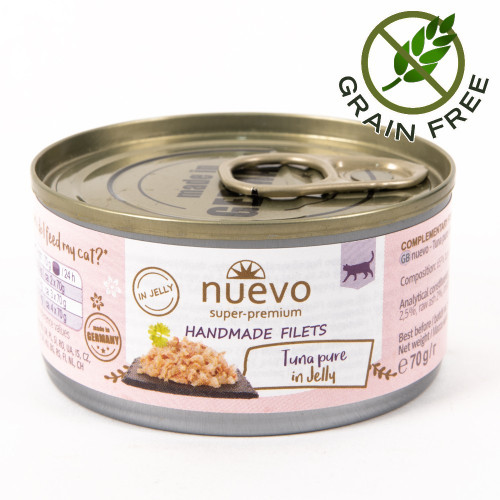 Суперпремиум храна за котки - Nuevo Handmade Filets 70 гр - филенца риба тон в желе