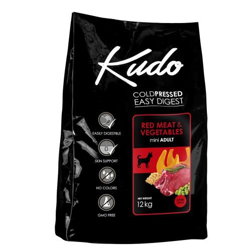 Студено пресована храна за кучета от мини породи Kudo Low Grain Red Meat - Adult Dog Mini 12kg