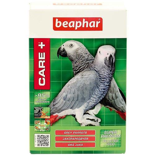 Супер премиум храна за Жако и големи африкански папагали Care+ Grey Parrots - 1kg