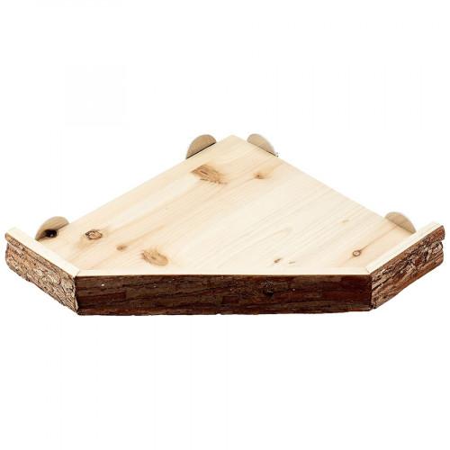 Дървена веранда Nature - аксесоар за заешка клетка