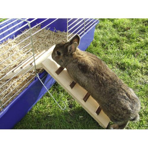 Дървена рампа за клетка на зайче Nature