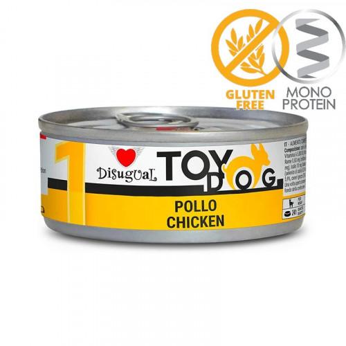 Моно протеинова храна за Йорки, Чихуахуа, Бивър, Ши цу, Папийон и други най-малки породи - Пастет Toy Dog с пилешко 85 гр