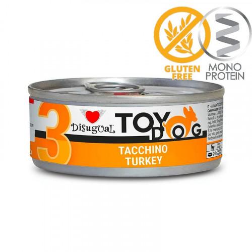 Моно протеинова храна за Йорки, Чихуахуа, Бивър, Ши цу, Папийон и други най-малки породи - пастет Toy Dog с пуешко 85 гр