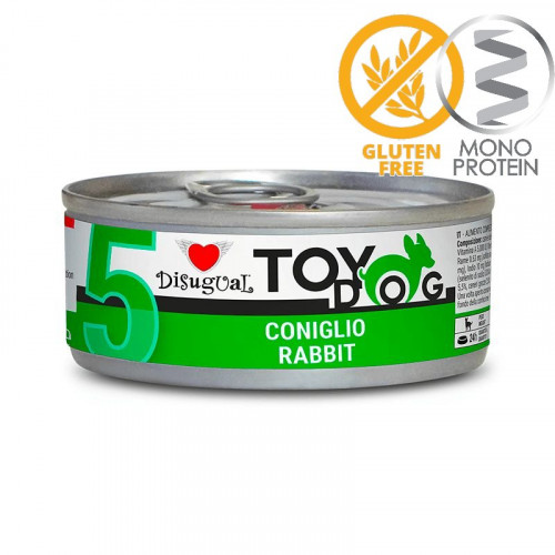 Моно протеинова храна за Йорки, Чихуахуа, Бивър, Ши цу, Папийон и други най-малки породи - пастет Toy Dog със заешко 85 гр