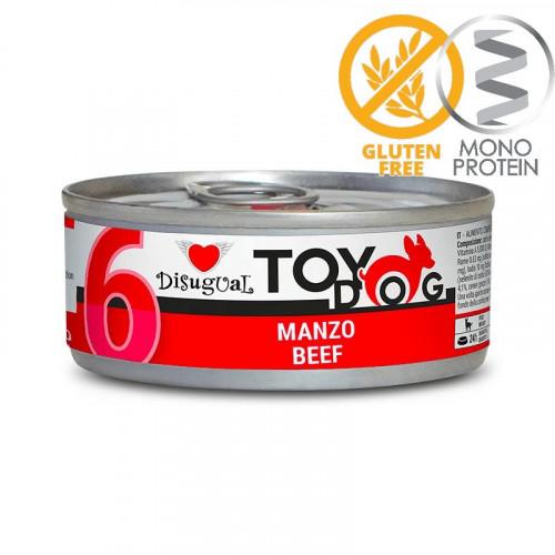 Моно протеинова храна за Йорки, Чихуахуа, Бивър, Ши цу, Папийон и други най-малки породи - пастет Toy Dog с говеждо 85 гр