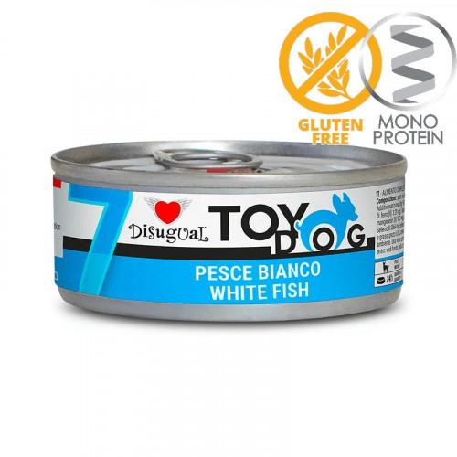 Моно протеинова храна за Йорки, Чихуахуа, Бивър, Ши цу, Папийон и други най-малки породи - пастет Toy Dog с бели риби 85 гр