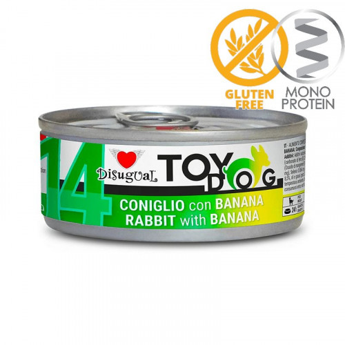 Моно протеинова храна за Йорки, Чихуахуа, Бивър, Ши цу, Папийон и други малки породи - пастет Toy Dog със заешко и банан 85 гр