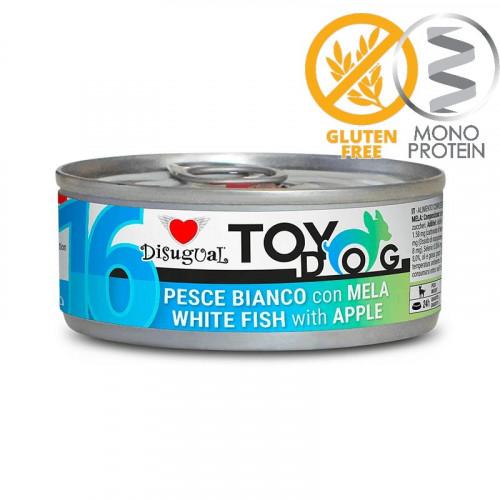 Моно протеинова храна за Йорки, Чихуахуа, Бивър, Ши цу, Папийон и други малки породи - пастет Toy Dog с бели риби и ябълка 85 гр