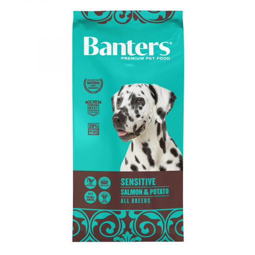 Евтина храна за кучета с храносмилателни проблеми Banters Dog Sensitive Salmon & Potato - 15 кг