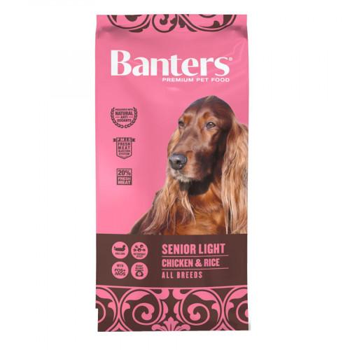 Евтина диетична храна за кучета Banters Dog Senior & Light Chicken & Rice - 15 кг