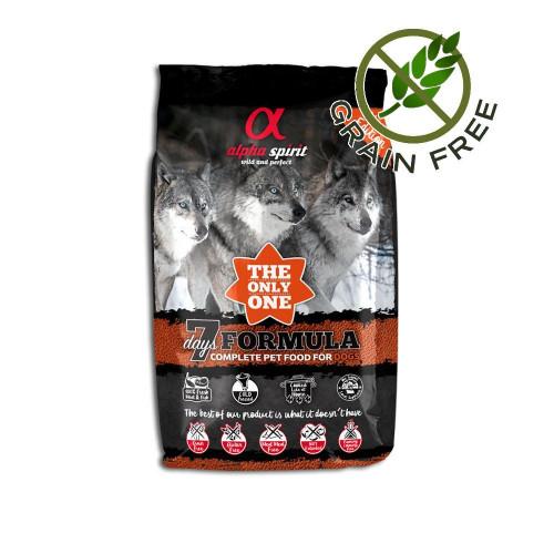 Ултра премиум храна за кучета с пресни морска риба и месо - Alpha Spirit The Only One 7 Days - 3 кг