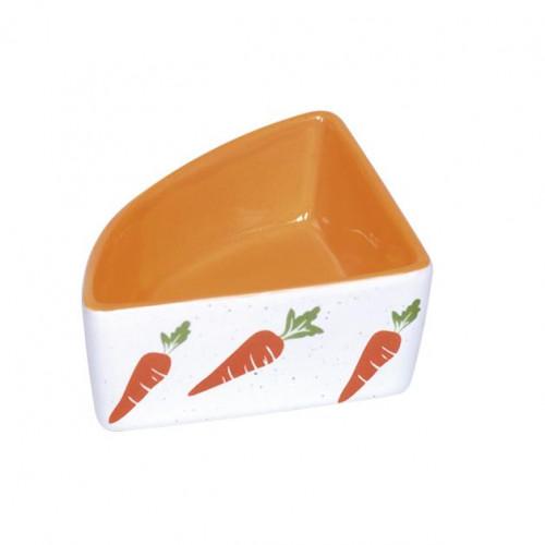 "Ъглова купичка за клетка на гризач ""Вкусно морковче"" - 100 мл"