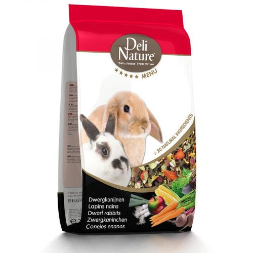 Супер премиум храна за декоративни зайчета Deli Nature 5 Star Menu Dwarf Rabbit - 750 гр