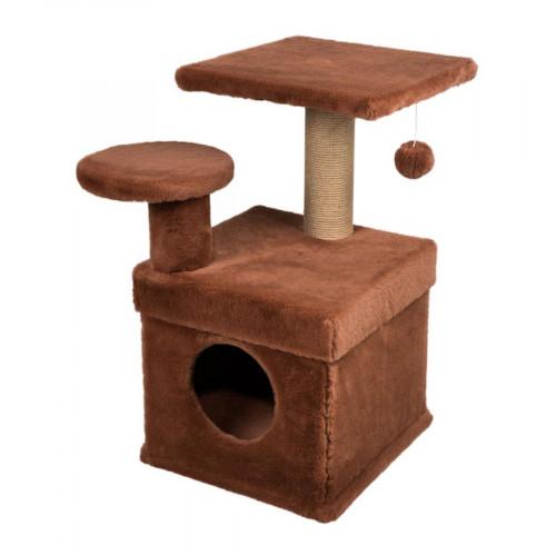Котешка къщичка с драскало - 62 х 62 х 71 см