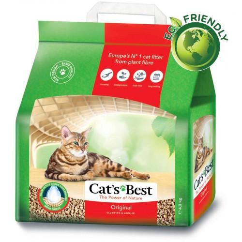 Екологична и икономична постелка за котешка тоалетна Cat's Best Original Oko Plus - 10 л