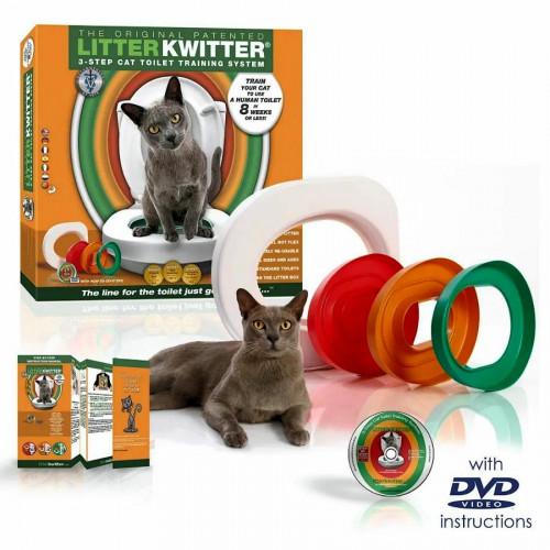 Litter Kwitter Cat Toilet Training System - как да научим котката да ползва човешка тоалетна