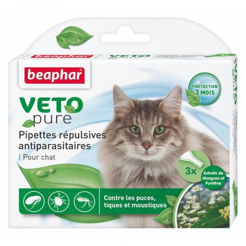 Противопаразитни пипети за котки 3 бр. - Beaphar Veto Pure Bio Spot On Cat -