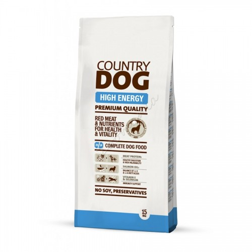 "Суха храна ""Country Dog High Energy"" - 15 kg"