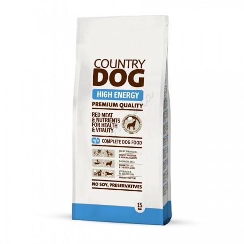"""Суха храна """"Country Dog High Energy"""" - 15 kg"""
